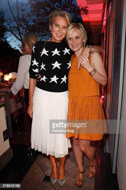 Stephanie von Pfuel and Barbara Sturm attend the 'Dr Barbara Sturm NetAPorter' Dinner Party on July 21 2016 in Munich Germany