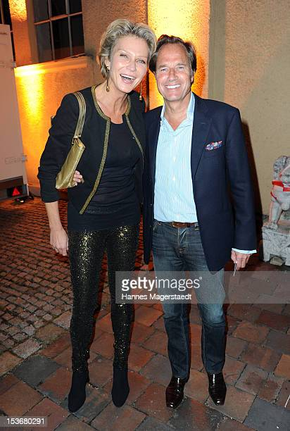 Stephanie von Pfuel and boyfriend Hendrik teNeues attend the Roger Hodgson private concert 'The Voice Of Supertramp' at the Reithalle on October 8...