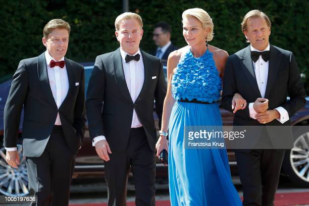 Stephanie von Pfuel and guest during the opening ceremony of the Bayreuth Festival at Bayreuth Festspielhaus on July 25 2018 in Bayreuth Germany
