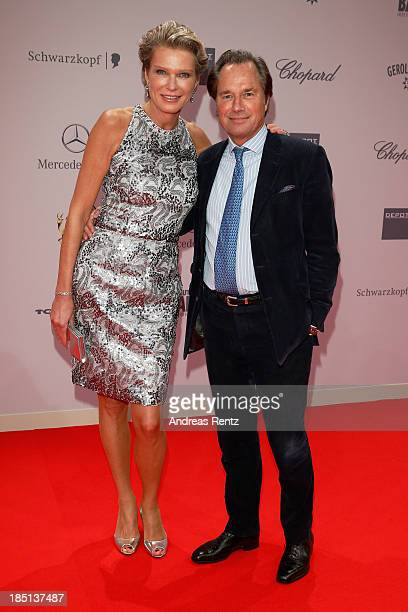 Stephanie von Pfuel and Hendrik te Neues arrive at Tribute To Bambi at Station on October 17 2013 in Berlin Germany