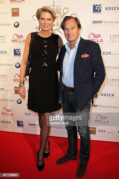 Stephanie von Pfuel and Hendrik te Neues attend the Lippert's Friseure L1 Reopening at Rilano No 6 on November 21 2013 in Munich Germany