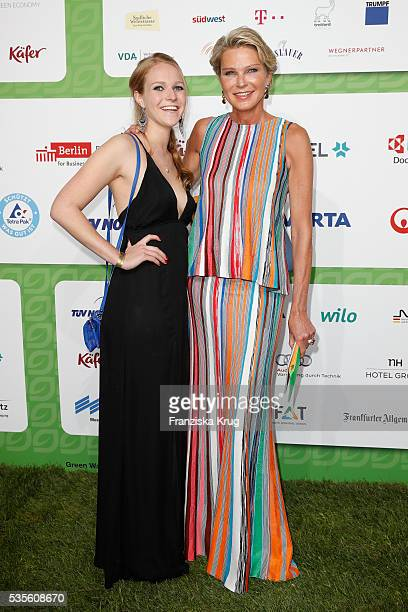 Stephanie von Pfuel and her daughter Amelie Bagusat attend the Green Tec Award at ICM Munich on May 29 2016 in Munich Germany