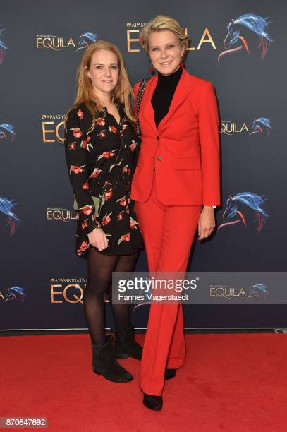 Stephanie von Pfuel and her daughter Amelie von Pfuel during the world premiere of the horse show 'EQUILA' at Apassionata Showpalast Muenchen on...