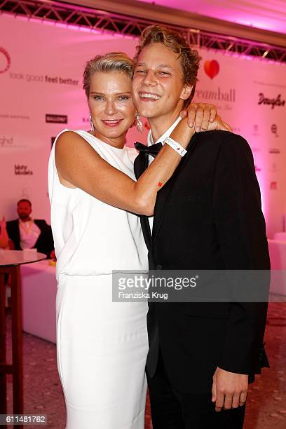 Stephanie von Pfuel and her son Karl von Pfuel attend the Dreamball 2016 at Ritz Carlton on September 29 2016 in Berlin Germany