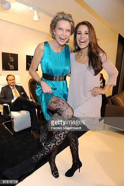 Stephanie von Pfuel and Karen Weeb attend the 'Stoff Fruehling' at the JAB Anstoetz showroom on March 19 2010 in Munich Germany