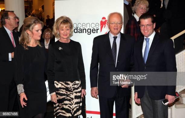 Stephanie von und zu Guttenber, Charlotte Kinberg, Andreas Graf von Bismarck-Schönhausen and Karl-Theodor zu Guttenberg attend the 'Innocence In...