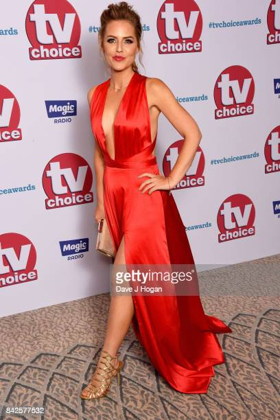 Stephanie Waring arrives at the TV Choice Awards at The Dorchester on September 4 2017 in London England
