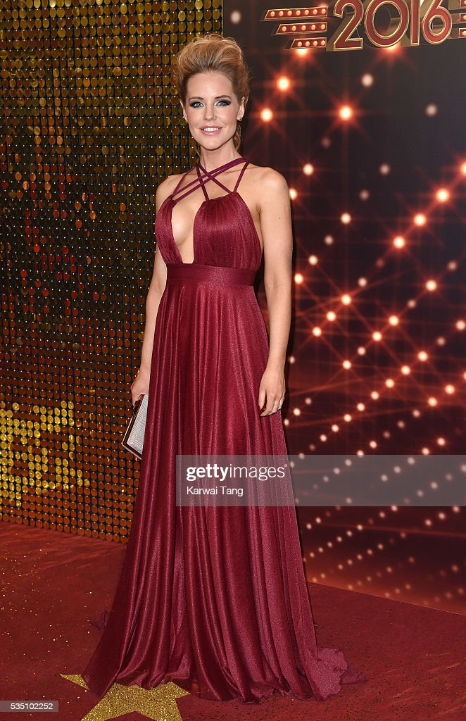 Stephanie Waring arrives for the British Soap Awards 2016 at the Hackney Town Hall Assembly Rooms on May 28, 2016 in London, England.