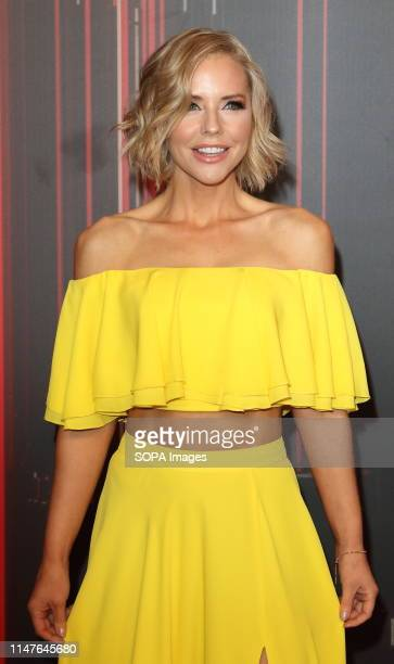 Stephanie Waring arrives on the red carpet during The British Soap Awards 2019 at The Lowry, Media City, Salford in Manchester.