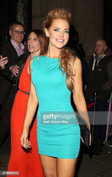 Stephanie Waring attending the British Soap Awards at the Palace Theatre on May 16 2015 in Manchester England
