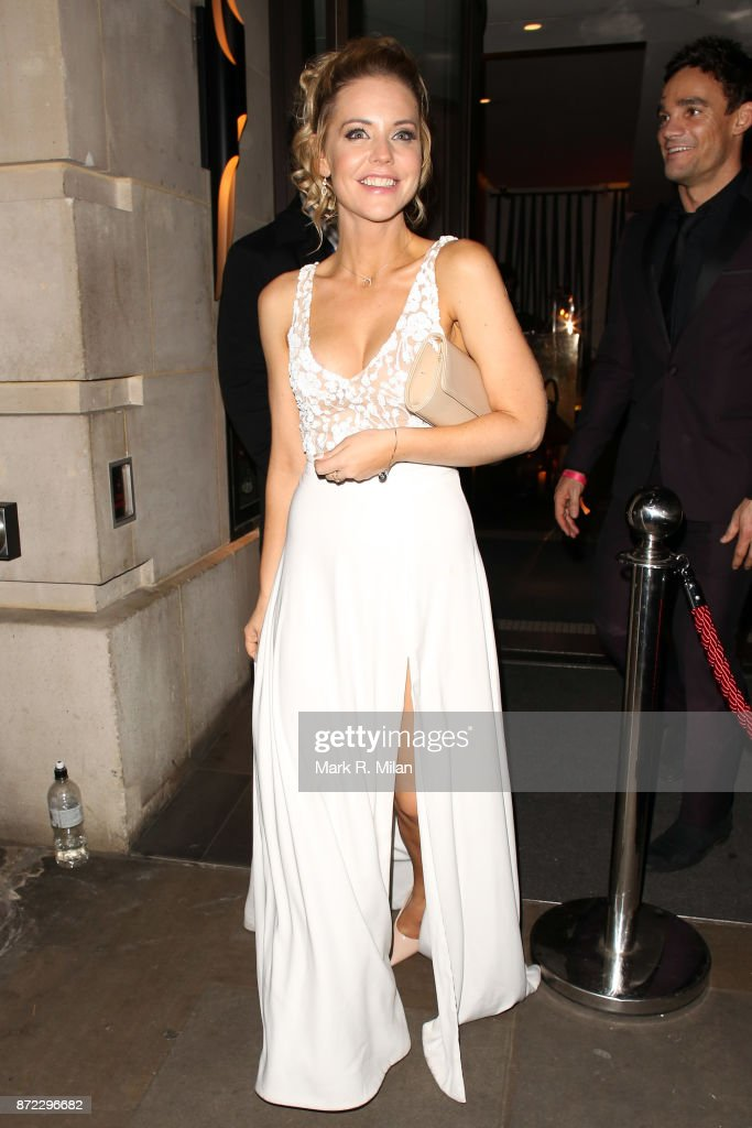 Stephanie Waring attending the ITV Gala afterparty at Aqua on November 9, 2017 in London, England.