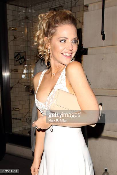 Stephanie Waring attending the ITV Gala afterparty at Aqua on November 9 2017 in London England