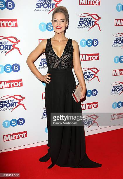 Stephanie Waring attends the Daily Mirror's Pride of Sport awards at The Grosvenor House Hotel on December 7 2016 in London England