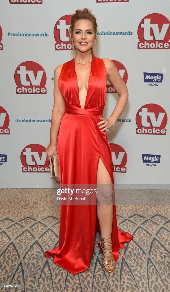 Stephanie Waring attends the TV Choice Awards at The Dorchester on September 4, 2017 in London, England.
