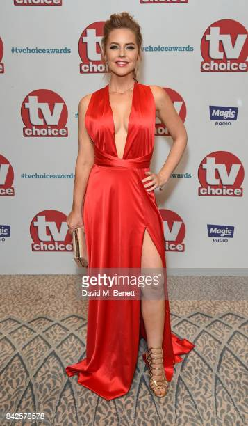 Stephanie Waring attends the TV Choice Awards at The Dorchester on September 4 2017 in London England