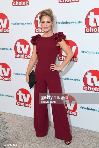 Stephanie Waring attends the TV Choice Awards at The Dorchester on September 10 2018 in London England