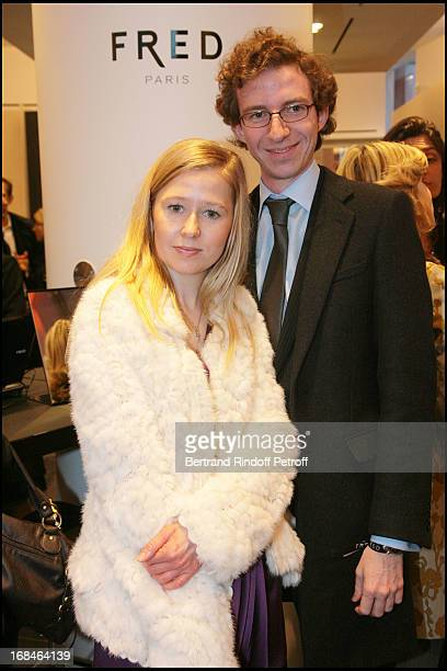 Stephanie Watine Arnault and brother Ludovic at Opening Party Of The Fred Boutique And Its Baby Galerie On Vendome Square In Paris