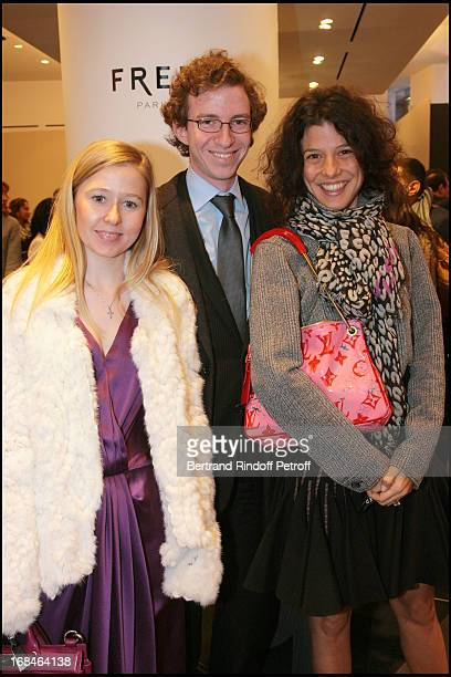 Stephanie Watine Arnault and brother Ludovic Camille Miceli at Opening Party Of The Fred Boutique And Its Baby Galerie On Vendome Square In Paris