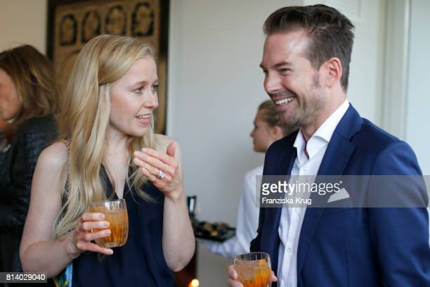 Stephanie Watine Arnault and Sebastian Hoeffner during the Clos19 dinner on July 13 2017 in Munich Germany