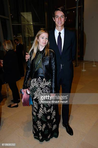 Stephanie WatineArnault and her cousin Alexandre Arnault attend the 'Icones de l'Art Moderne La Collection Chtchoukine' Cocktail at Fondation Louis...