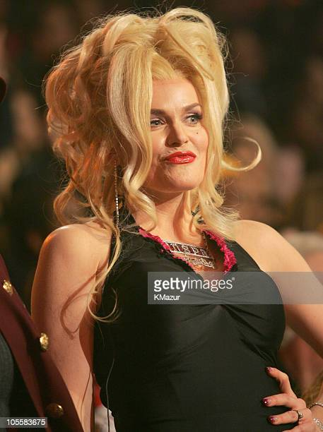 Stephanie Weir as Anna Nicole Smith during 2004 Billboard Music Awards Show at MGM Grand Garden in Las Vegas Nevada United States