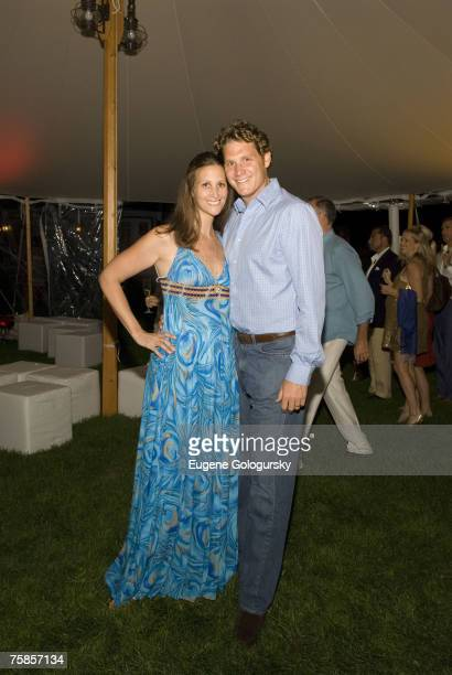 Stephanie Winston Wolkoff and David Wolkoff at Baby Buggy And Ferragamo Summer Dinner At Home Of Jessica Jerry Seinfeld