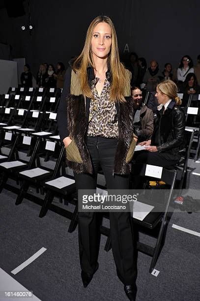 Stephanie Winston Wolkoff attends the ICB By Prabal Gurung Fall 2013 fashion show during MercedesBenz Fashion Week at The Studio at Lincoln Center on...