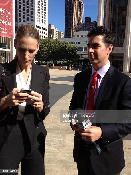 Stephanie WinstonWilkoff and Jesse Watters circa September 2012 in New York City