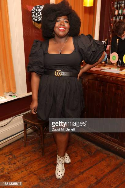 Stephanie Yeboah attends the Ted Baker summer pub quiz hosted by Clara Amfo on July 29, 2021 in London, England.