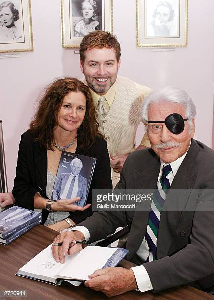 Stephanie Zimbalist Jr Harlan Boll and Efrem Zimbalist Jr attend My Dinner of Herbs event at The Hollywood History Museum on November 11 2003 in...