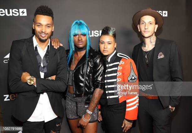 Stephano Serrano Kwaylon Rogers aka TiTi Anel Morel and Travis Ross attend the ZEUS New Series Premiere Party X CIROC Black Raspberry on October 19...