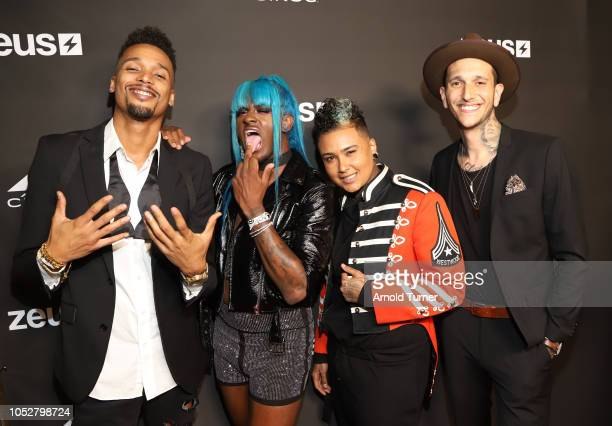 Stephano Serrano Kwaylon Rogers aka 'TiTi' Anel Morel and Travis Ross attend the ZEUS New Series Premiere Party X CIROC Black Raspberry on October 19...