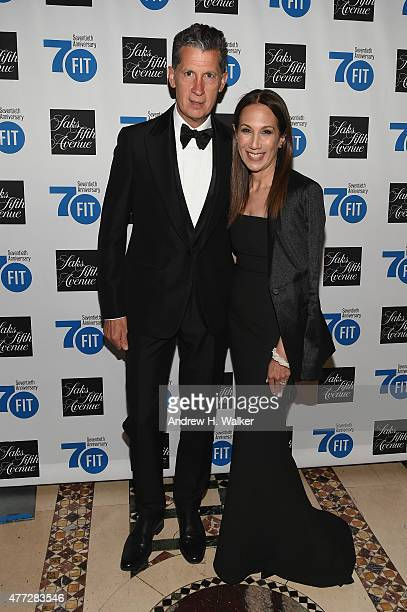 Stephano Tonchi and Jane Hertzmark Hudis attend the FIT Foundation Gala June 15 2015 in New York City