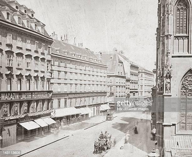 Stephansplatz Photograph by Joseg Löwy 1865