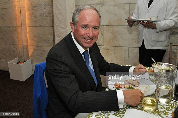 Stephen A. Schwarzman, chairman and chief executive officer of Blackstone Group LP, sits for a photograph at the New York Public Library Centennial...