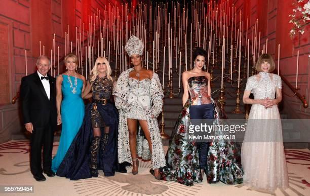 Stephen A Schwarzman Christine Schwarzman 2018 Met Gala Host Donatella Versace 2018 Met Gala Host Rihanna 2018 Met Gala Host Amal Clooney and Met...