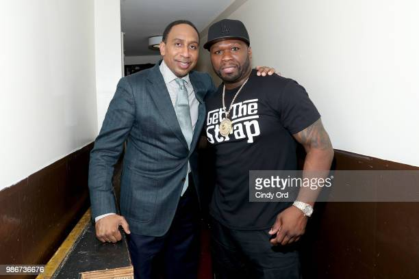 Stephen A Smith and Curtis 50 cent Jackson attend the Starz Power The Fifth Season NYC Red Carpet Premiere Event After Party on June 28 2018 in New...