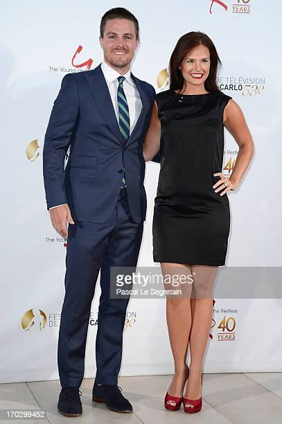 Stephen Amell and Cassandra Jean attend 'The Young and the Restless' party marking the 40th anniversary of TV series at MonteCarlo Bay Resort Hotel...