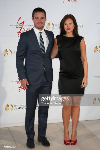 Stephen Amell and Cassandra Jean attend 'The Young and the Restless' party marking the 40th anniversary of the TV series at MonteCarlo Bay Resort...