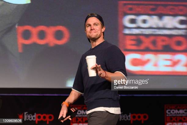 Stephen Amell attends C2E2 Chicago Comic Entertainment Expo at McCormick Place on February 29 2020 in Chicago Illinois