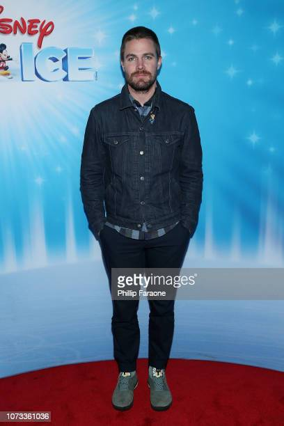 Stephen Amell attends Disney On Ice Presents 'Dare To Dream' at Staples Center on December 14 2018 in Los Angeles California