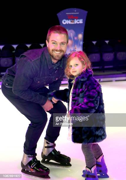 Stephen Amell attends Disney On Ice Presents Dare to Dream Celebrity Skating Party at Staples Center on December 14 2018 in Los Angeles California