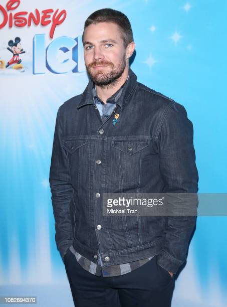 Stephen Amell attends Disney On Ice Presents 'Dare To Dream' held at Staples Center on December 14 2018 in Los Angeles California