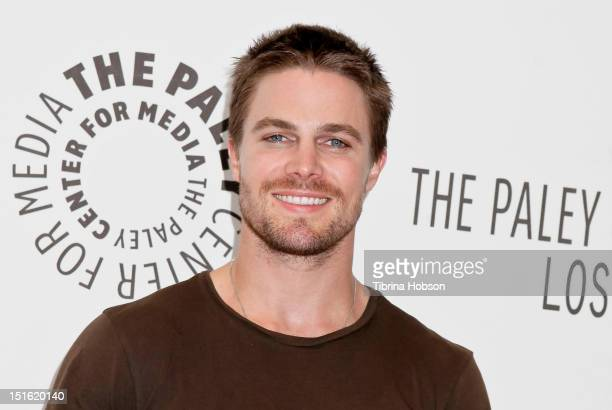 Stephen Amell attends the 2012 PaleyFest fall TV preview party for the CW at The Paley Center for Media on September 8 2012 in Beverly Hills...