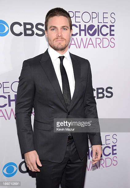Stephen Amell attends the 2013 People's Choice Awards at Nokia Theatre LA Live on January 9 2013 in Los Angeles California