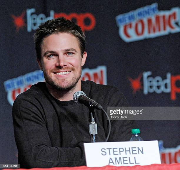Stephen Amell attends the Arrow Presentation and Q A at the 2012 New York Comic Con at the Javits Center on October 14 2012 in New York City