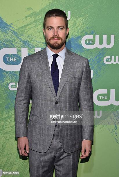 Stephen Amell attends the CW Network's 2016 New York Upfront Presentation at The London Hotel on May 19 2016 in New York City