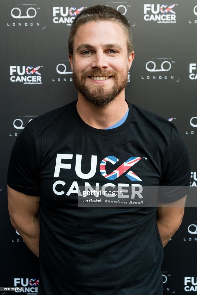 Stephen Amell attends the 'Fuck Cancer' event at TAPE on May 26, 2017 in London, England.