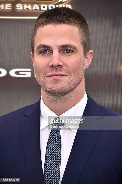 Stephen Amell attends the Teenage Mutant Ninja Turtles Out Of The Shadows World Premiere at Madison Square Garden on May 22 2016 in New York City