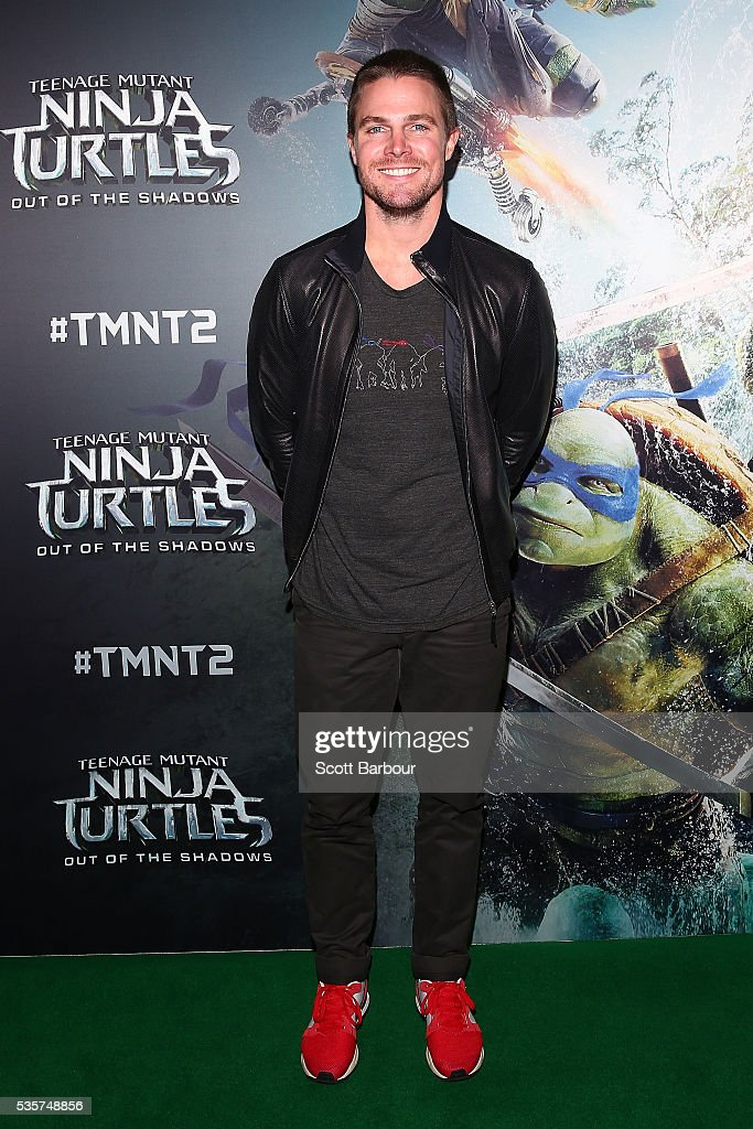 Stephen Amell attends the Teenage Mutant Ninja Turtles: Out of the Shadows fan screening at Village Cinemas Jam Factory on May 30, 2016 in Melbourne, Australia.